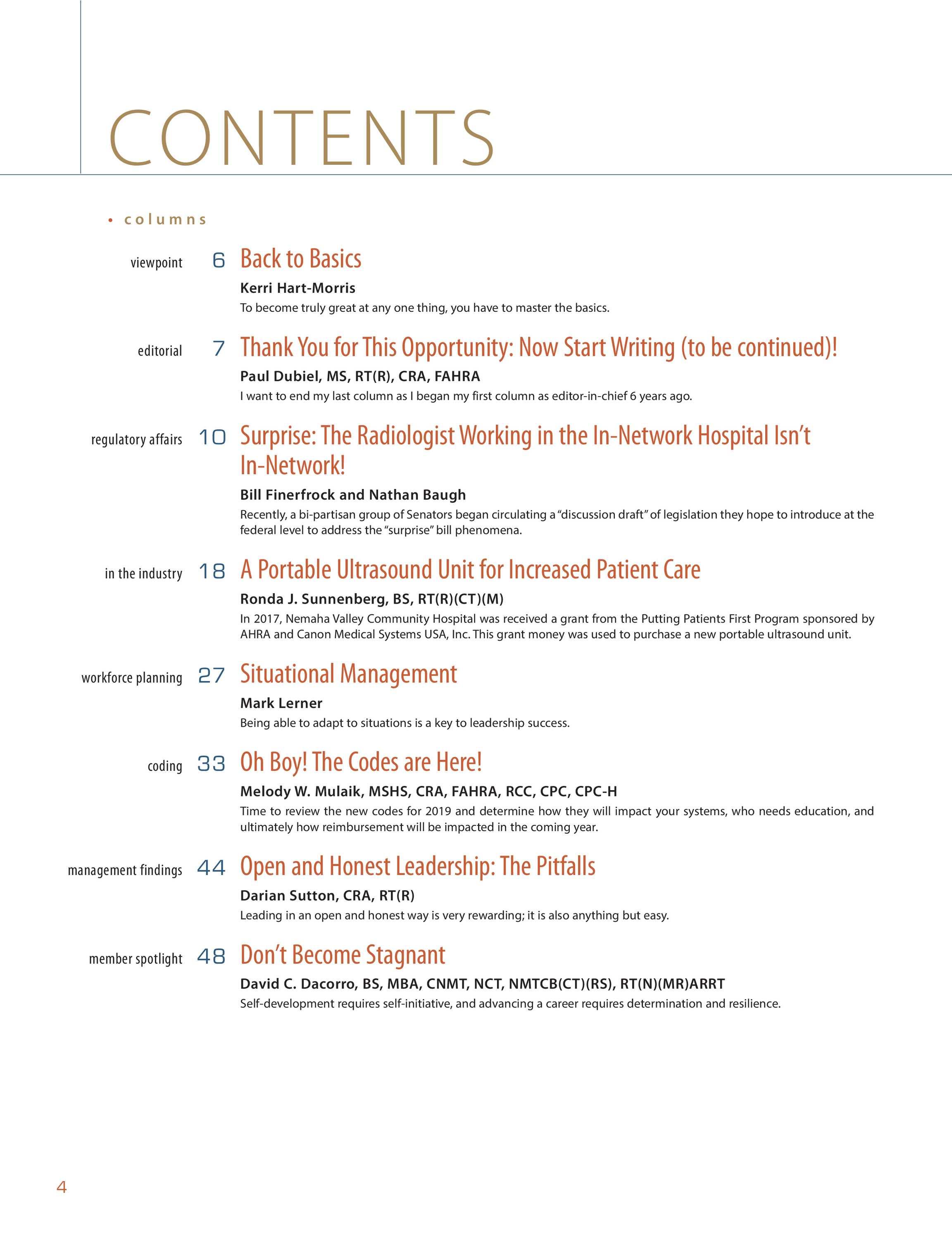 Radiology Management Novemberdecember 2018 Page 4