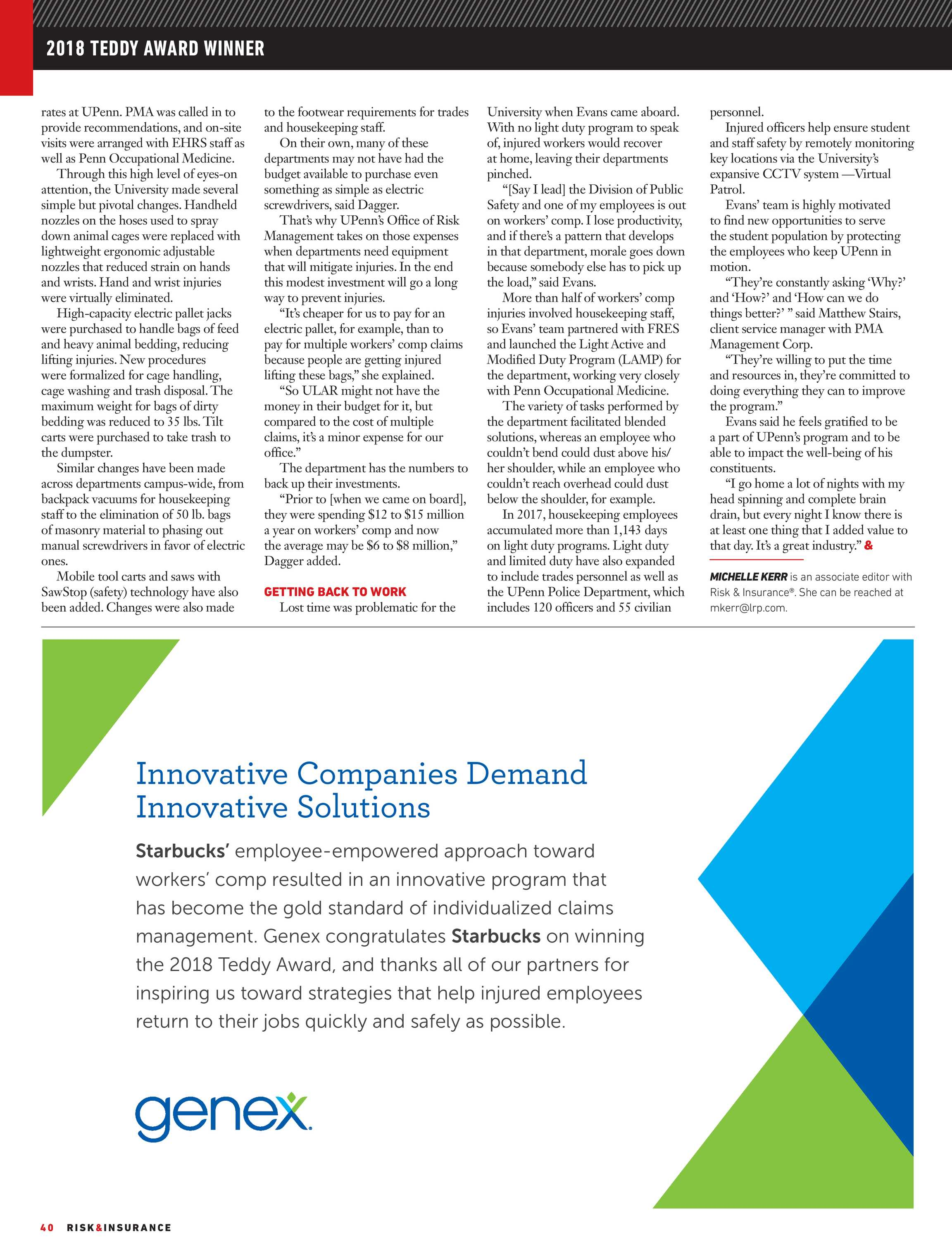 Risk & Insurance - November 2018 - page 40