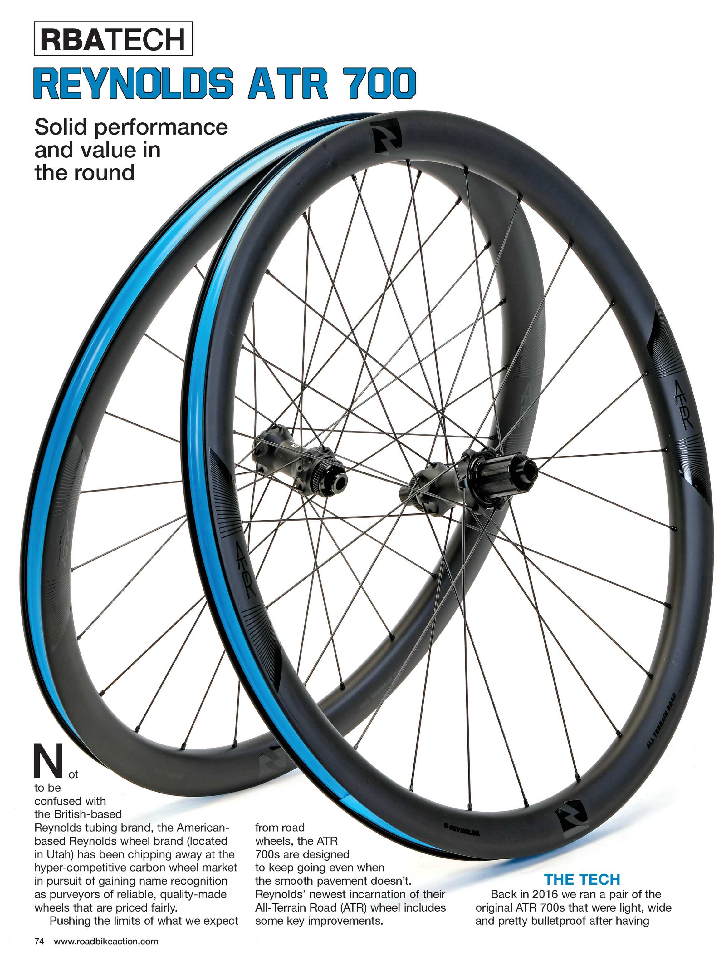 Road Bike Action Magazine - NOVEMBER 2018 - page 74