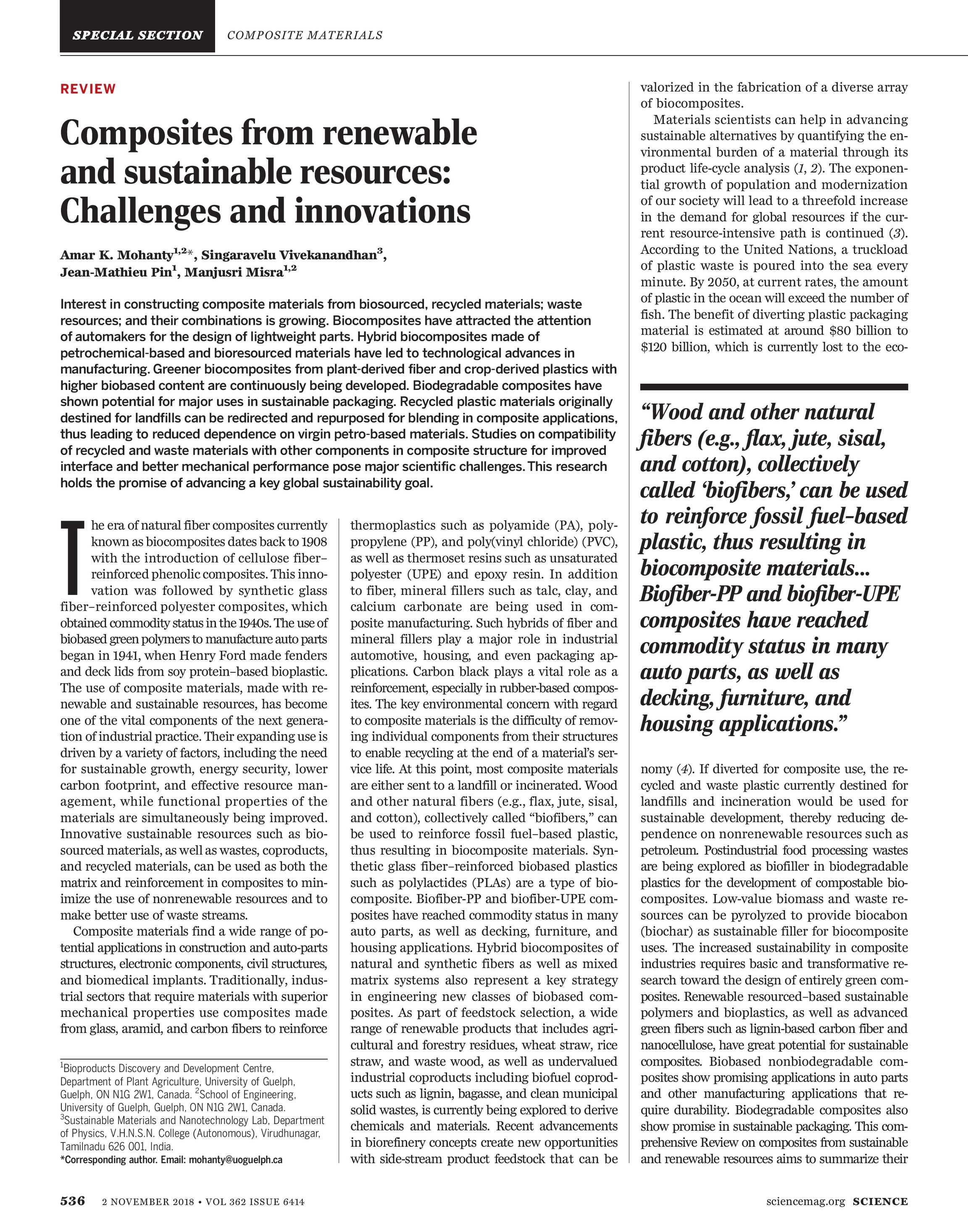 Science Magazine - November 2, 2018 - page 536