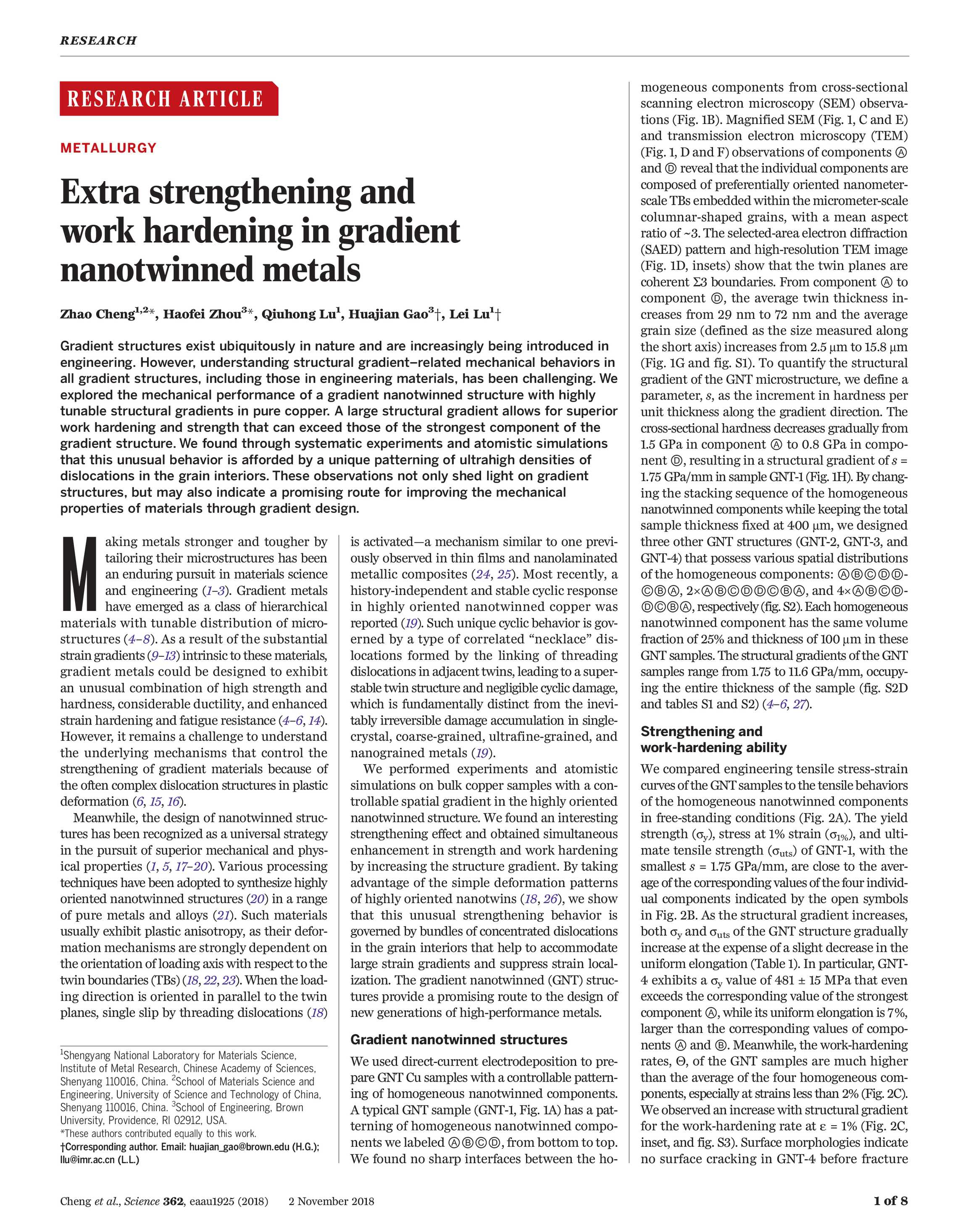 Science Magazine - November 2, 2018 - page 559