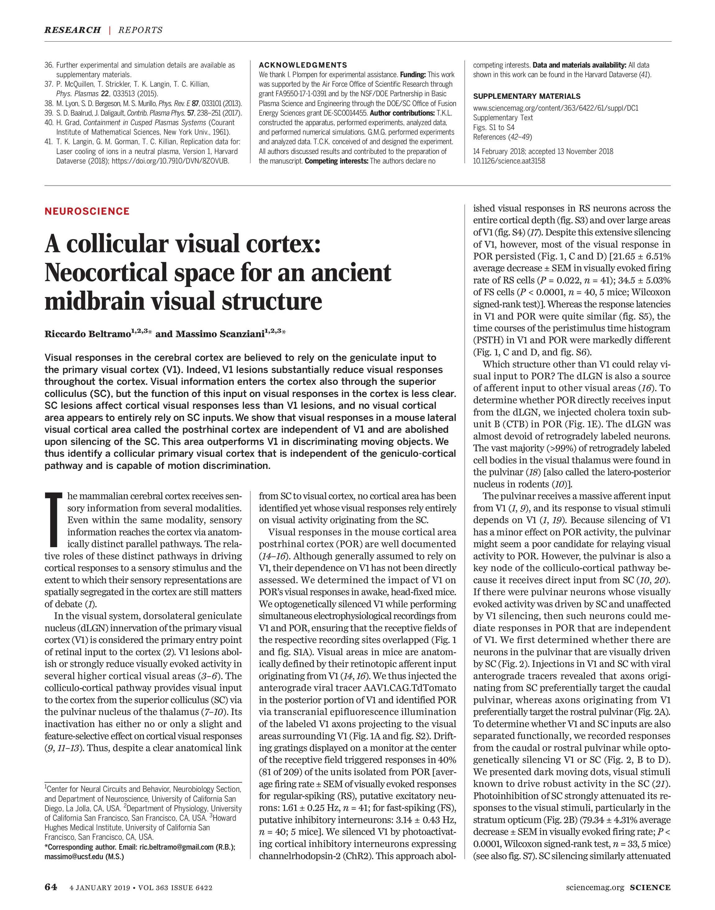 Science Magazine - January 4, 2019 - page 64