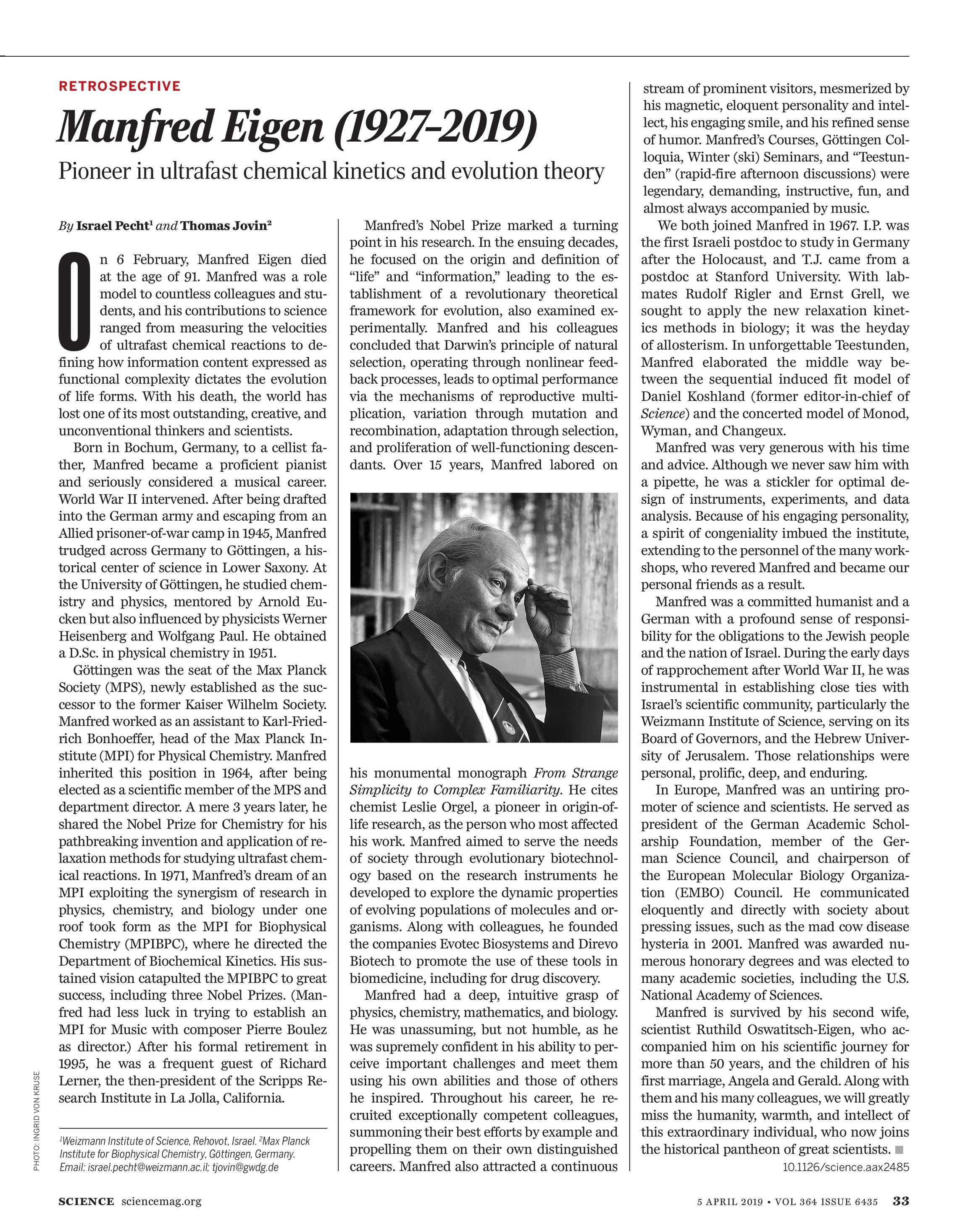 Science Magazine - April 5, 2019 - page 33