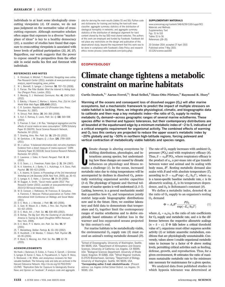 Science Magazine - 05 June 2015 - Page 1132