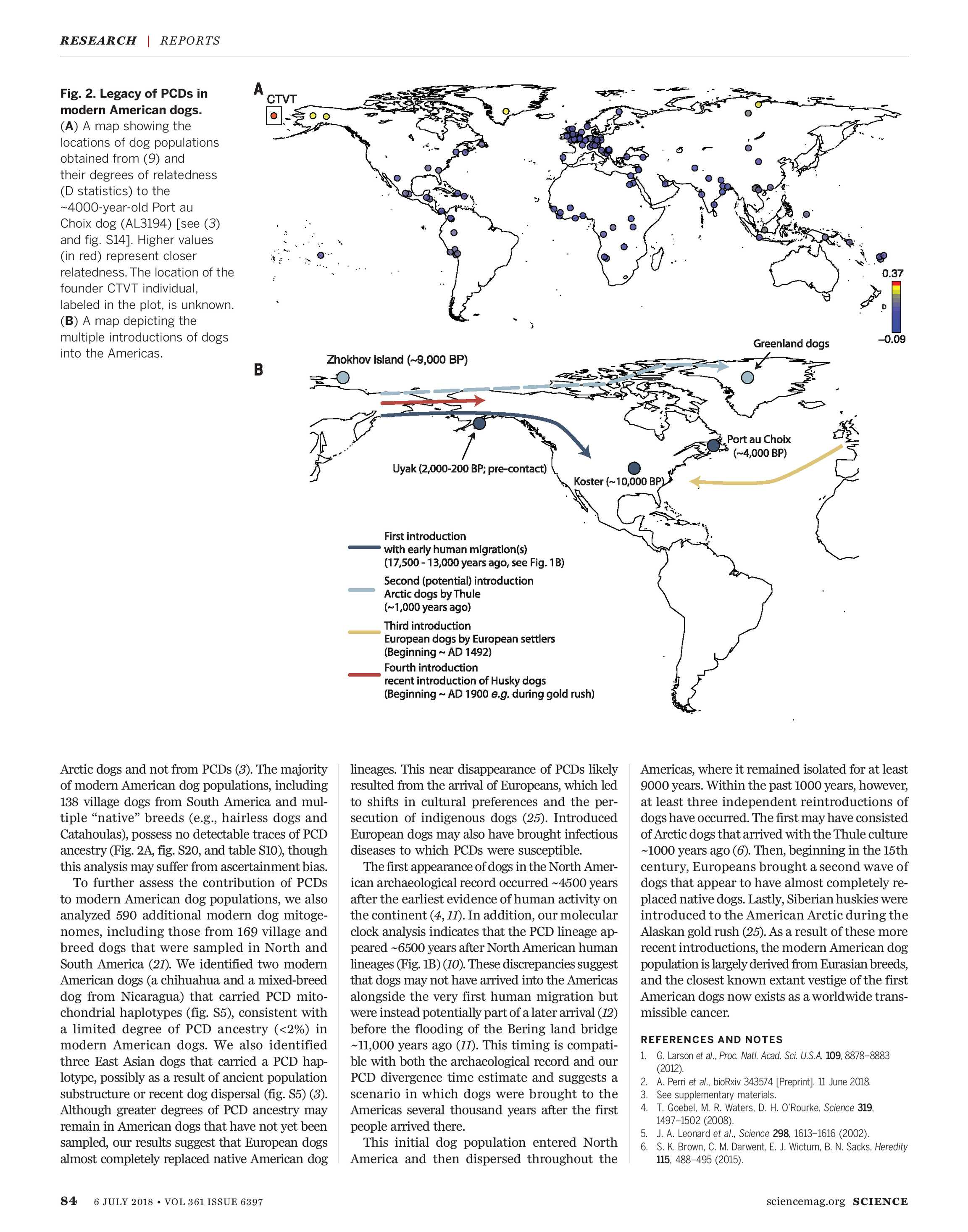 500 Year Old Map Of America.Science Magazine July 6 2018 Page 85
