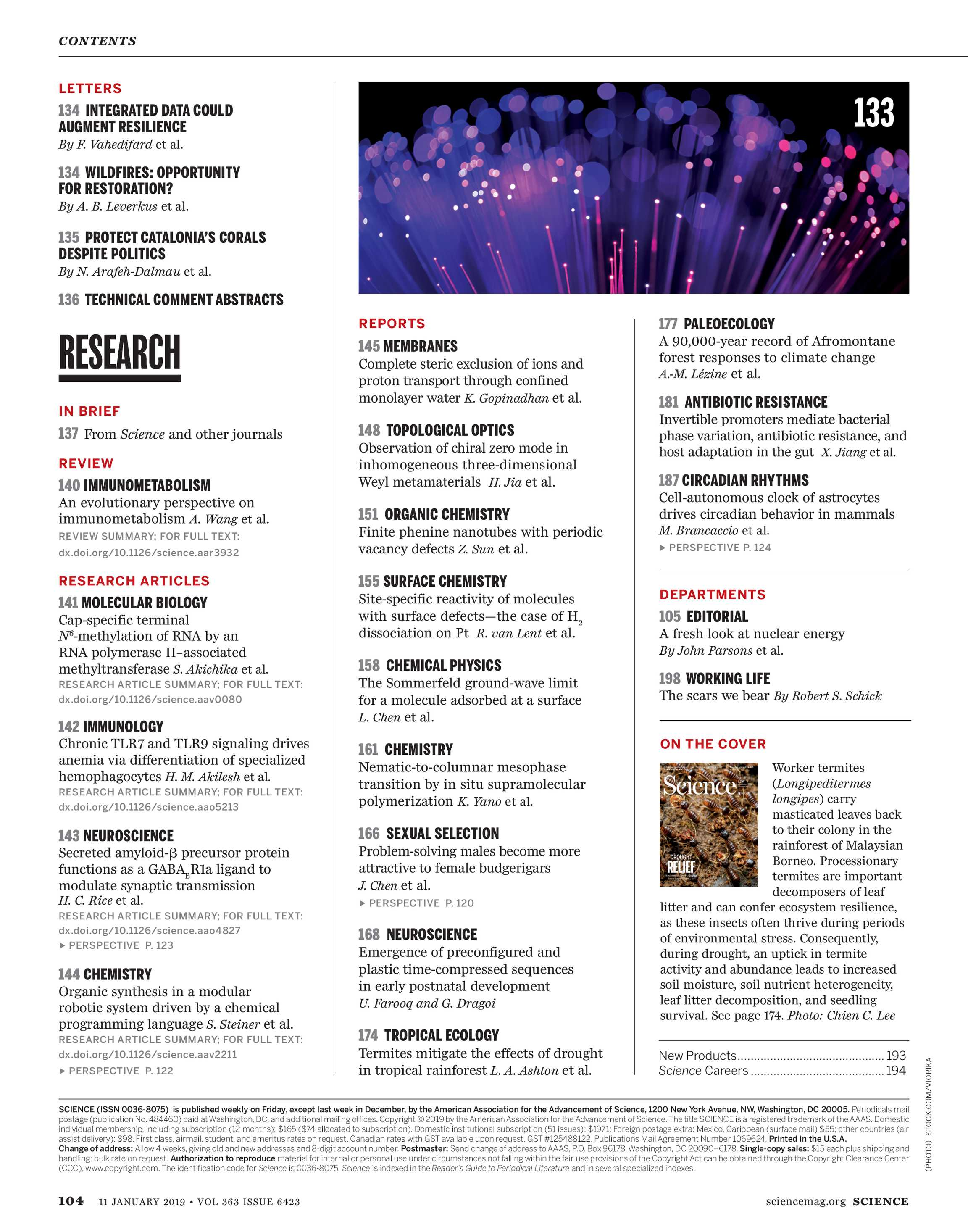 Science Magazine January 11 2019 Page Cover Pinterest Electric Circuit Electrical Engineering And Fair 104