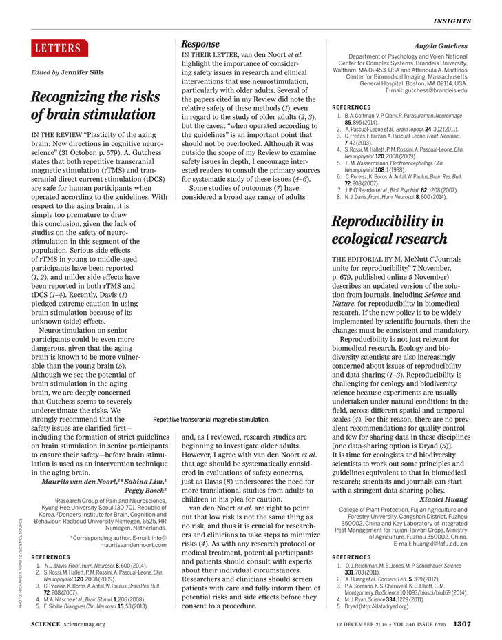 Science Magazine - 12 December 2014 - Page 1307