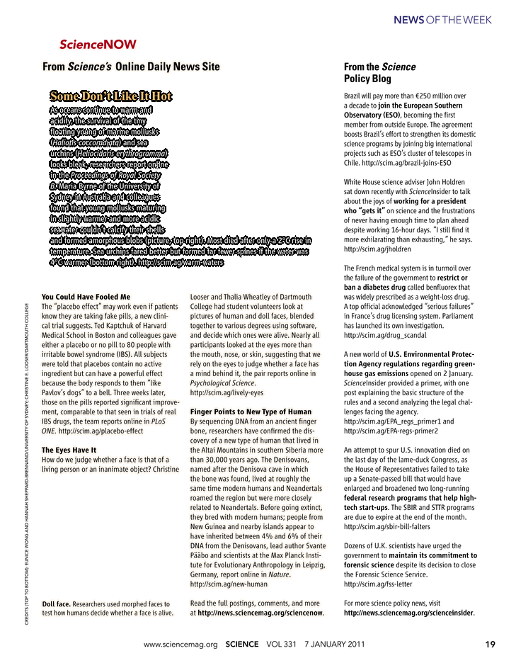 Science Magazine - 7 January 2011 - Page 19