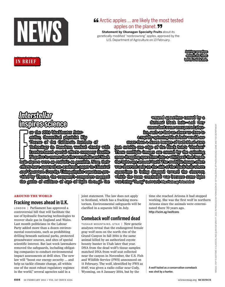 Science Magazine - 20 February 2015 - Page 808