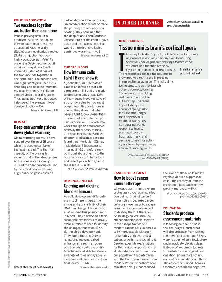 Science Magazine - 22 August 2014 - Page 887