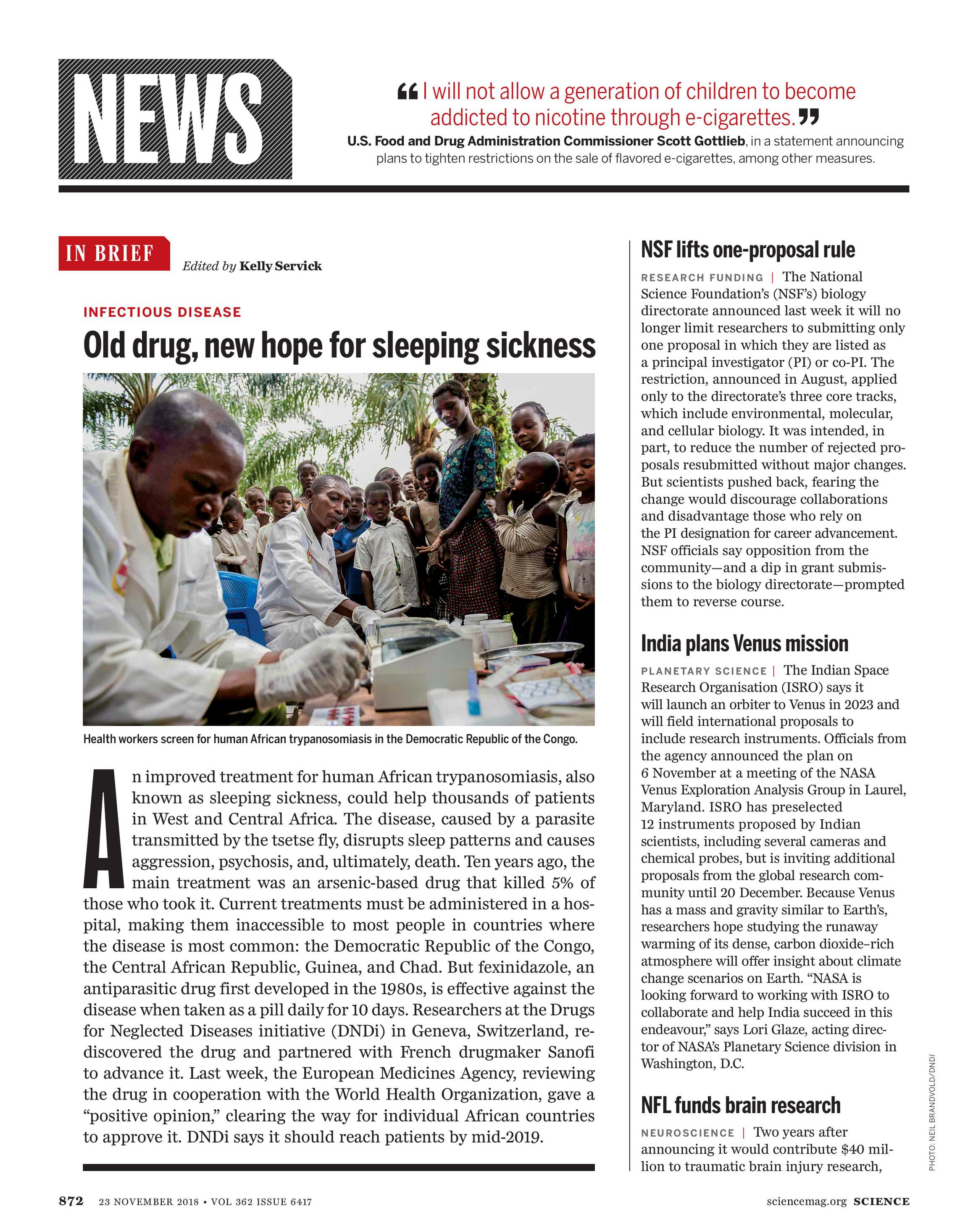 Science Magazine - November 23, 2018 - page 871