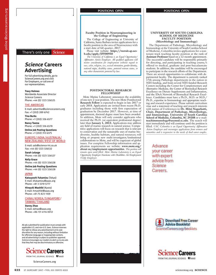 Science Magazine - January 27, 2017 - Page 422