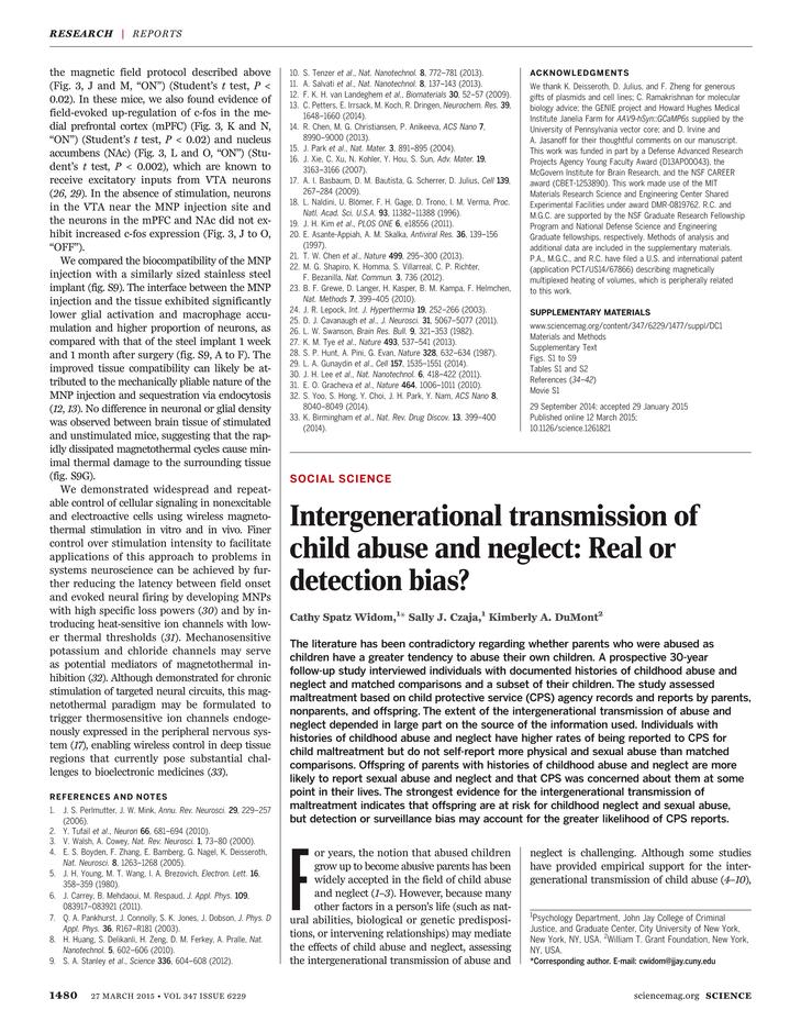 intergenerational transmission of abuse
