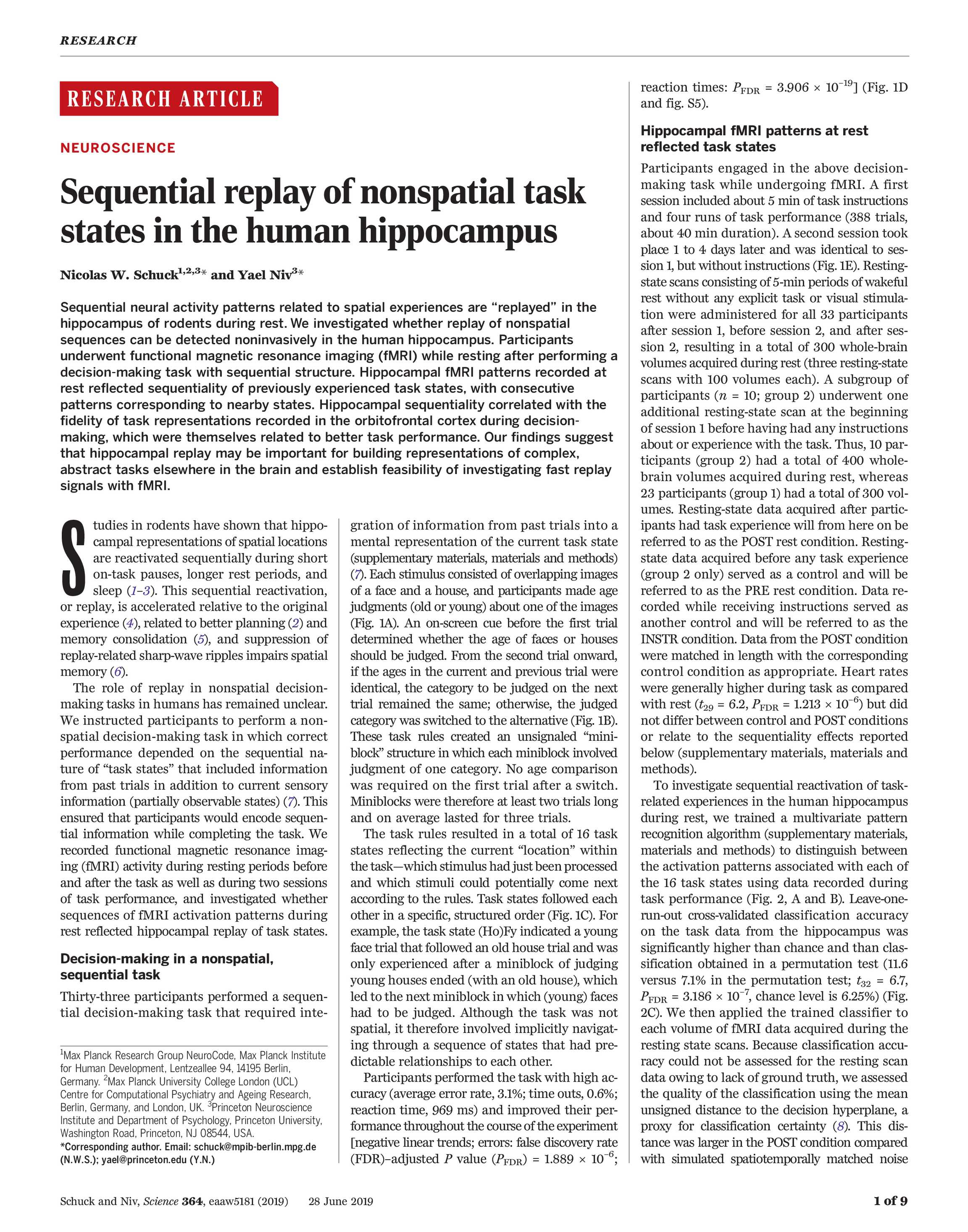 Science Magazine - June 28, 2019 - page 1254