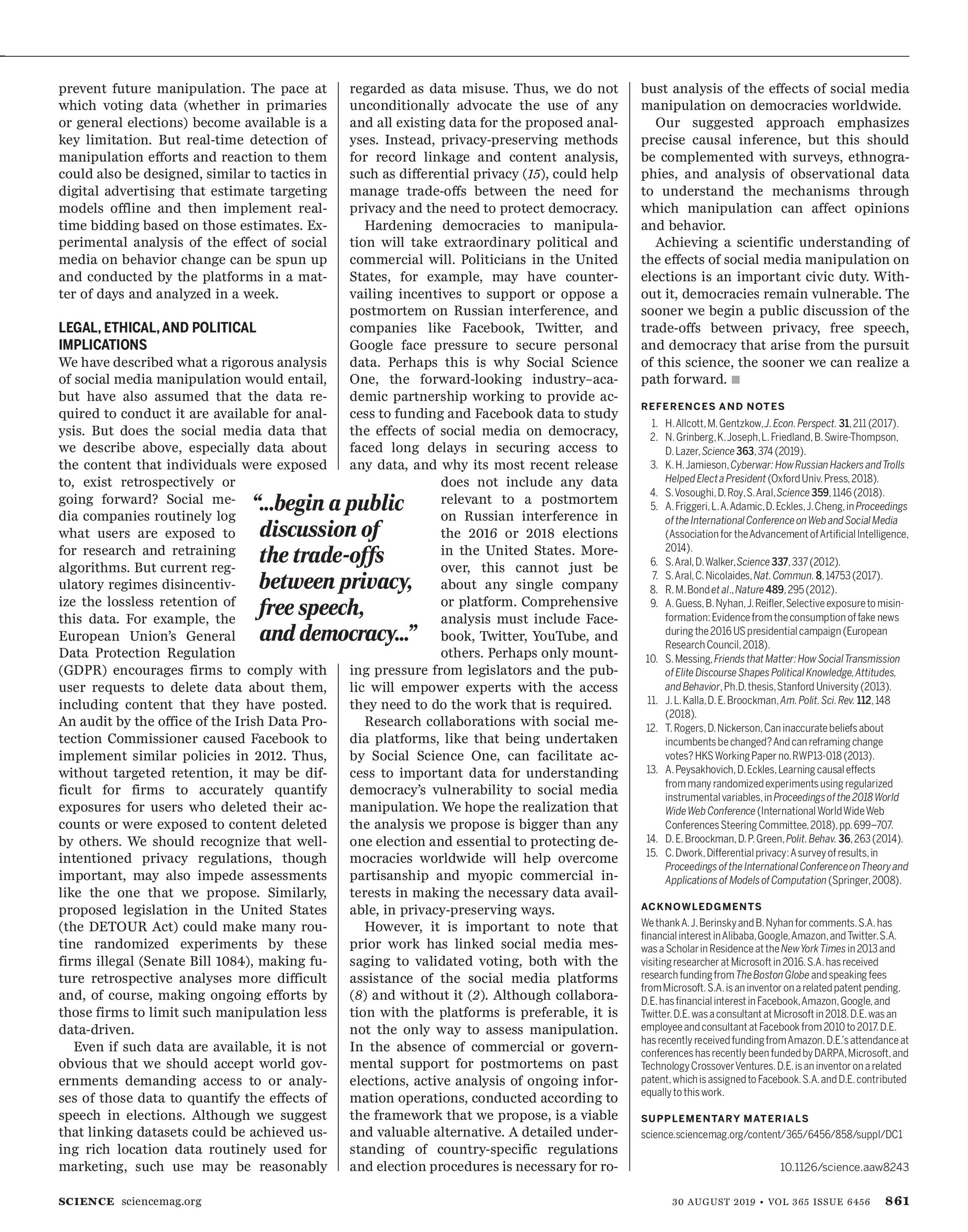 Science Magazine - August 30, 2019 - page 862