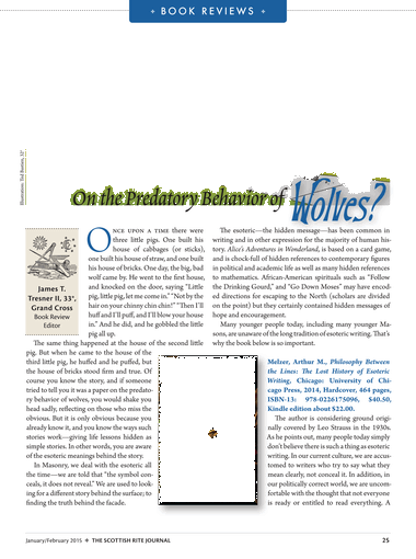 Scottish Rite Journal Online January February 2015 Page 24 25