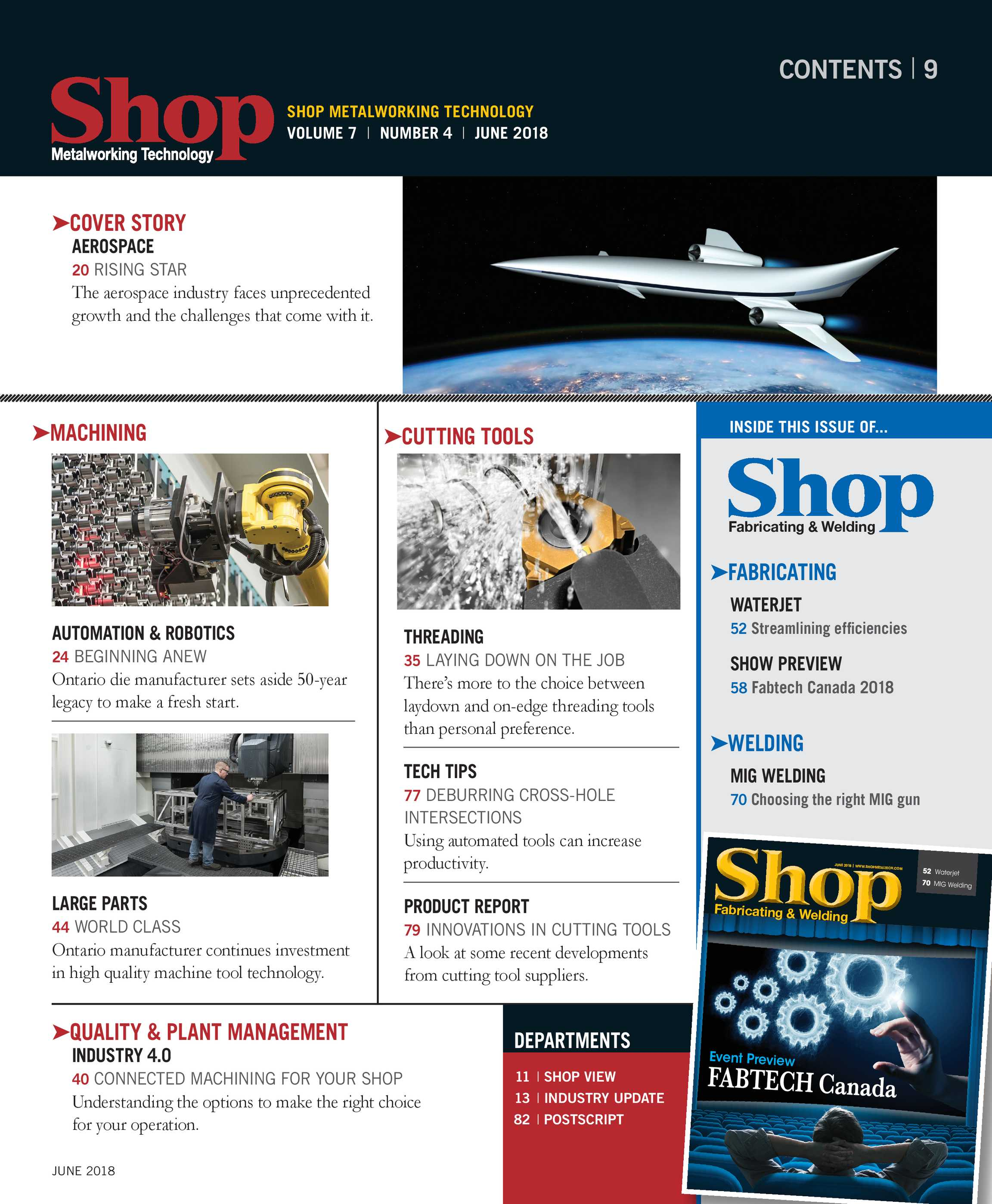 Shop Metalworking Technology - June 2018 - page 9