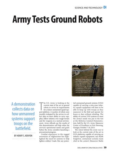Signal - January 2014 - Page 38-39