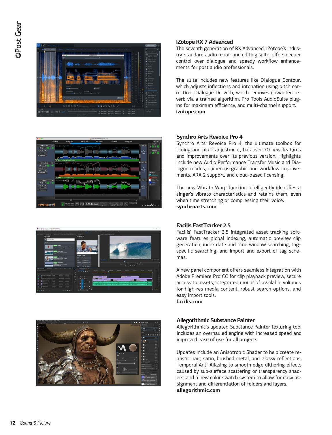 Sound & Picture - Issue 3, 2018 - page 72