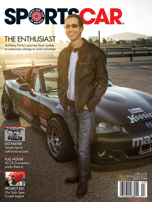 Sports Car April Front Cover - Sports cars magazine