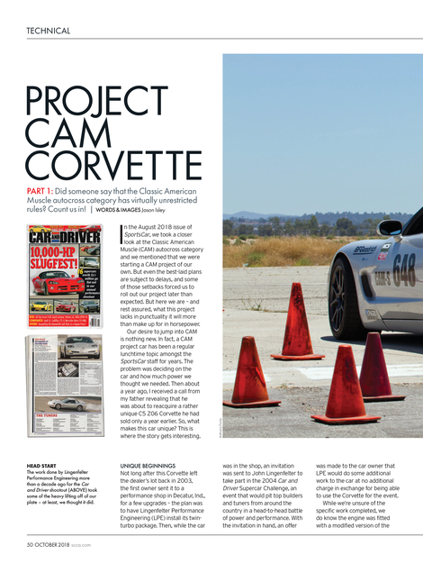 Sports Car - October 2018 - Page 50-51