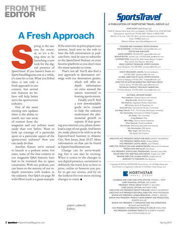 SportsTravel - Spring 2019 - Page 2-3