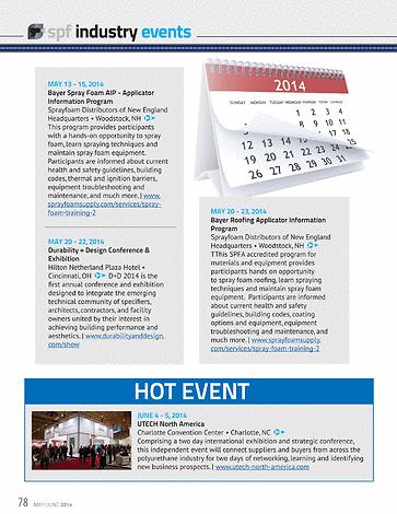 Spray Foam Magazine - May/June2014 - Page 78-79