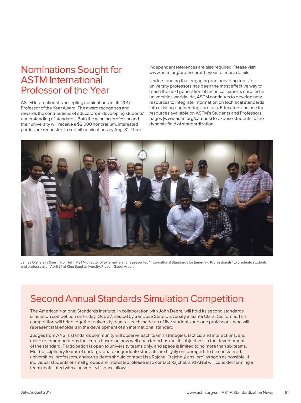 Standardization News - July / August 2017 - page 50