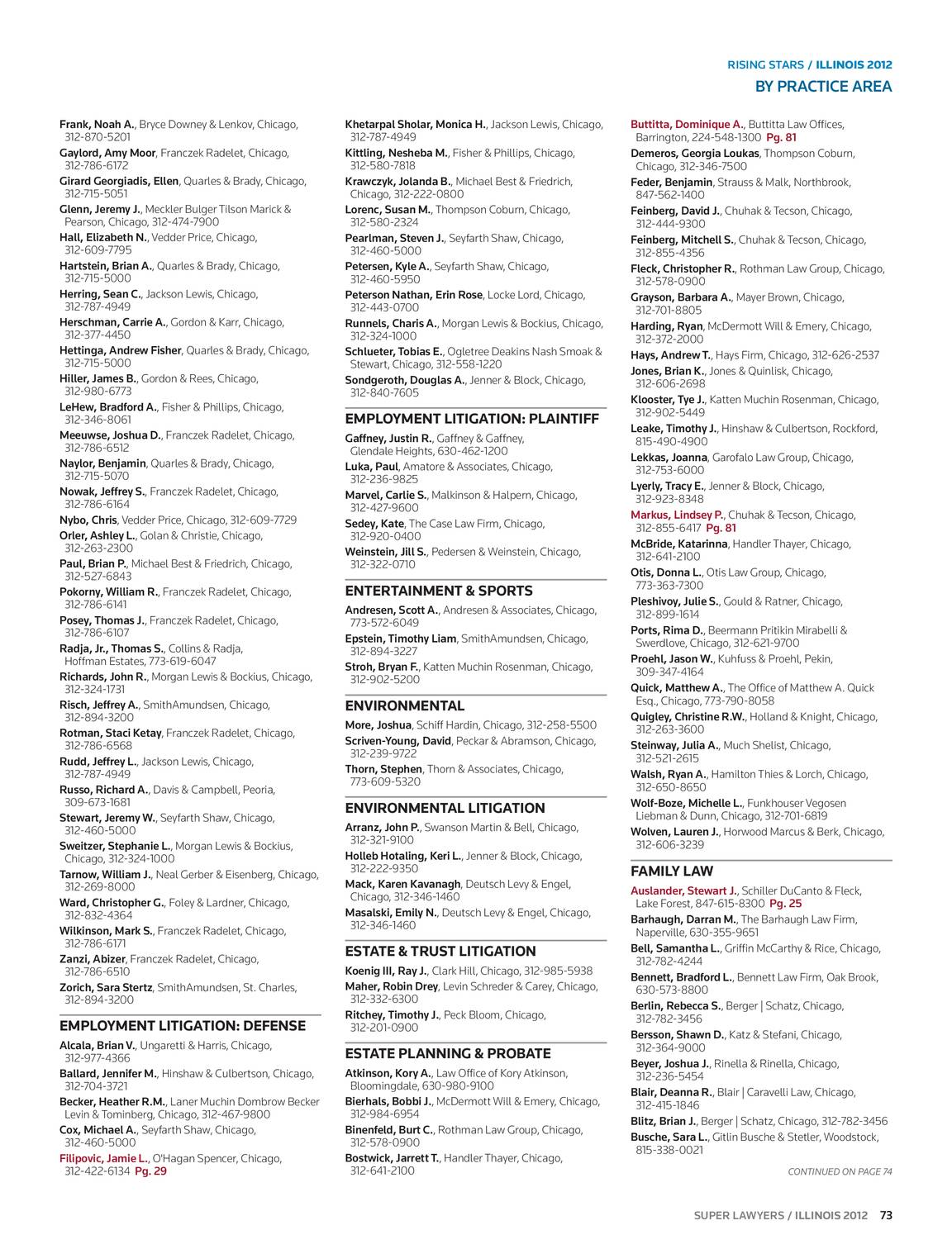 super lawyers - illinois 2012 - page 72