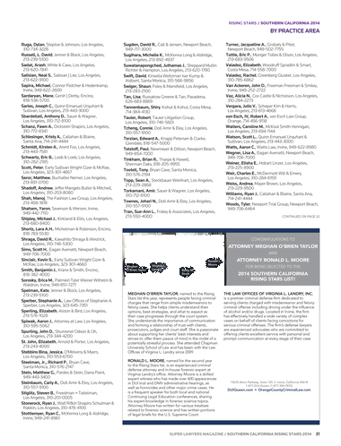 Super Lawyers - Southern California Rising Stars 2014 - Page 30-31