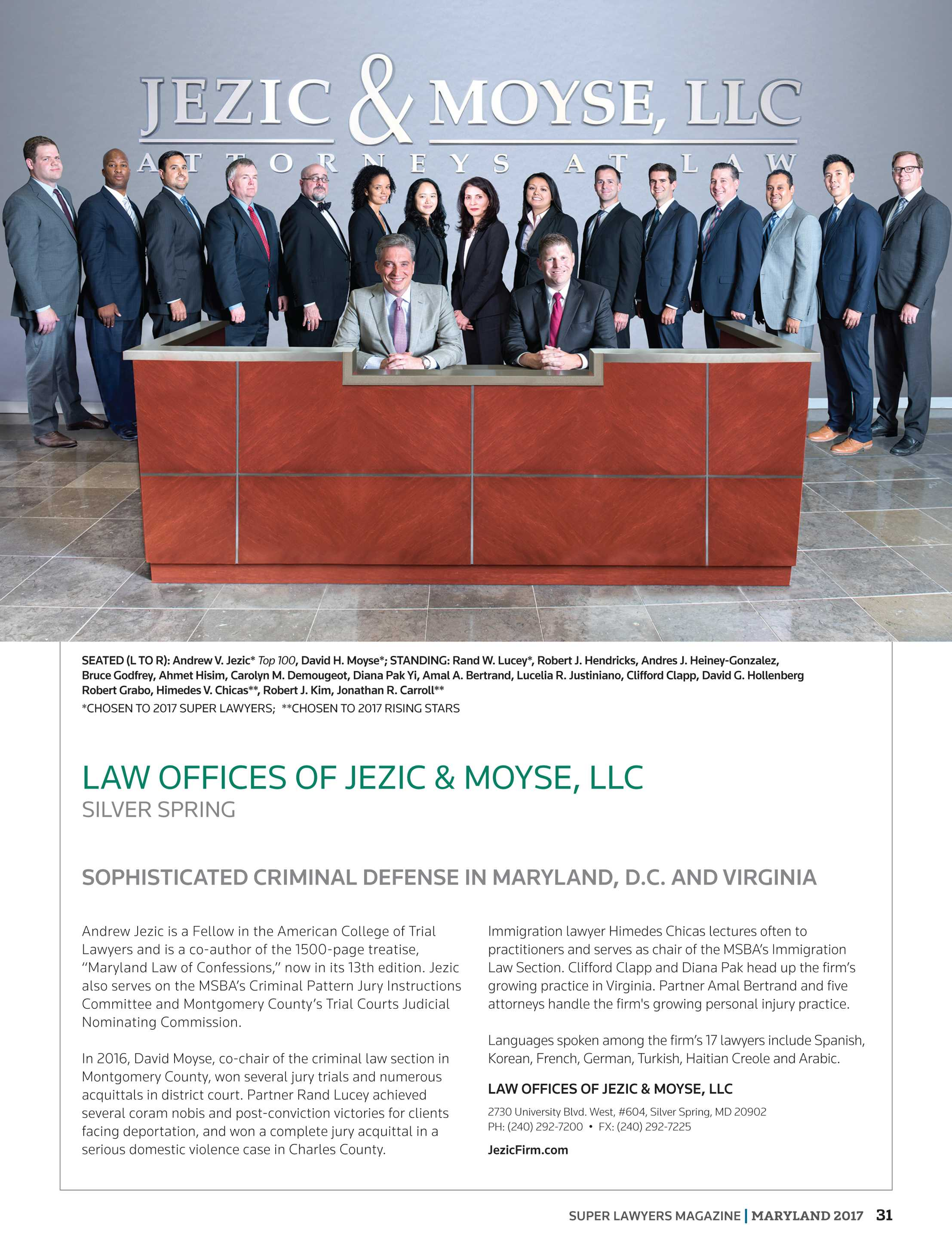 Super Lawyers Maryland 2017 Page 31