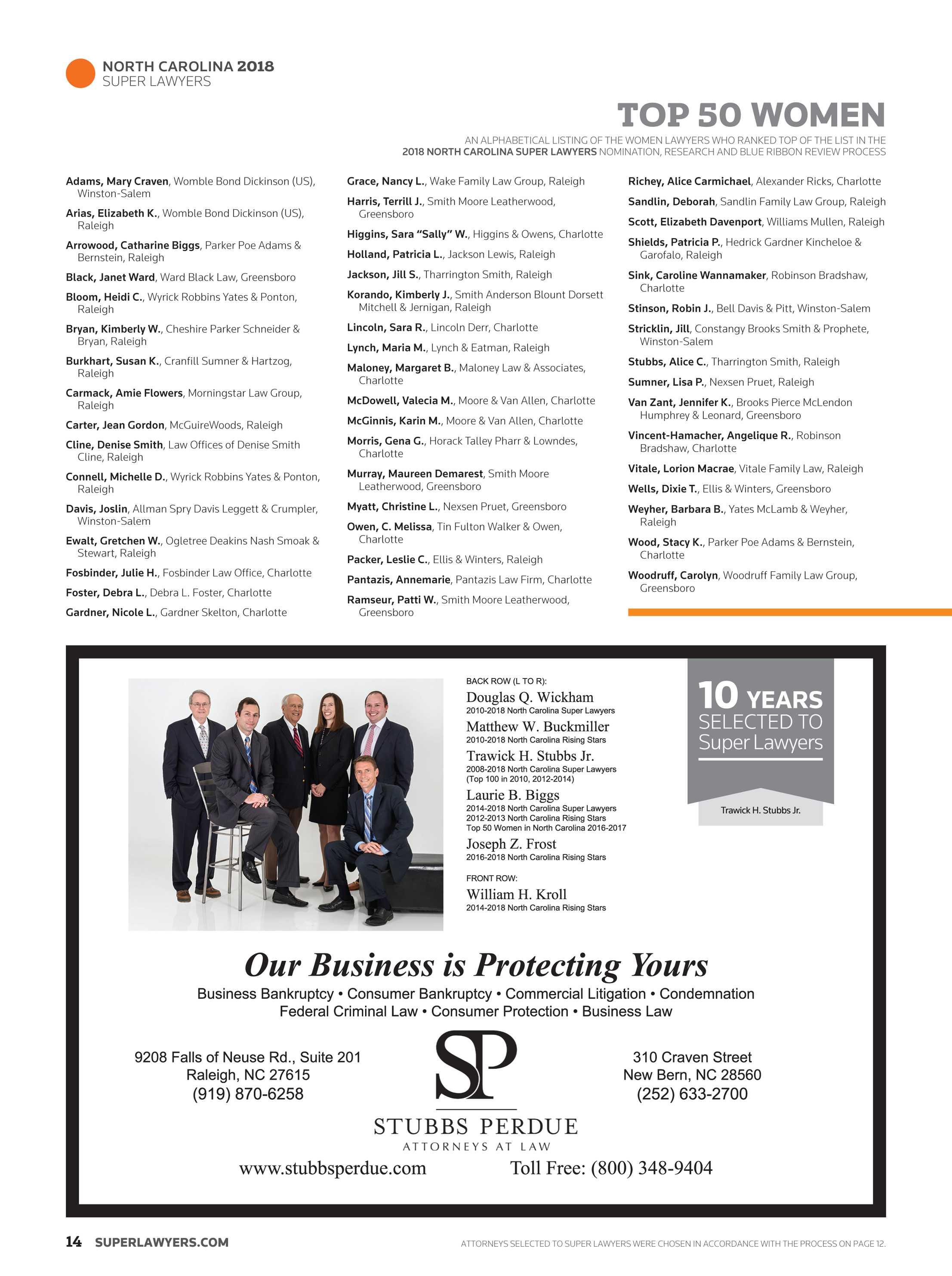 Super Lawyers - North Carolina 2018 - page 14