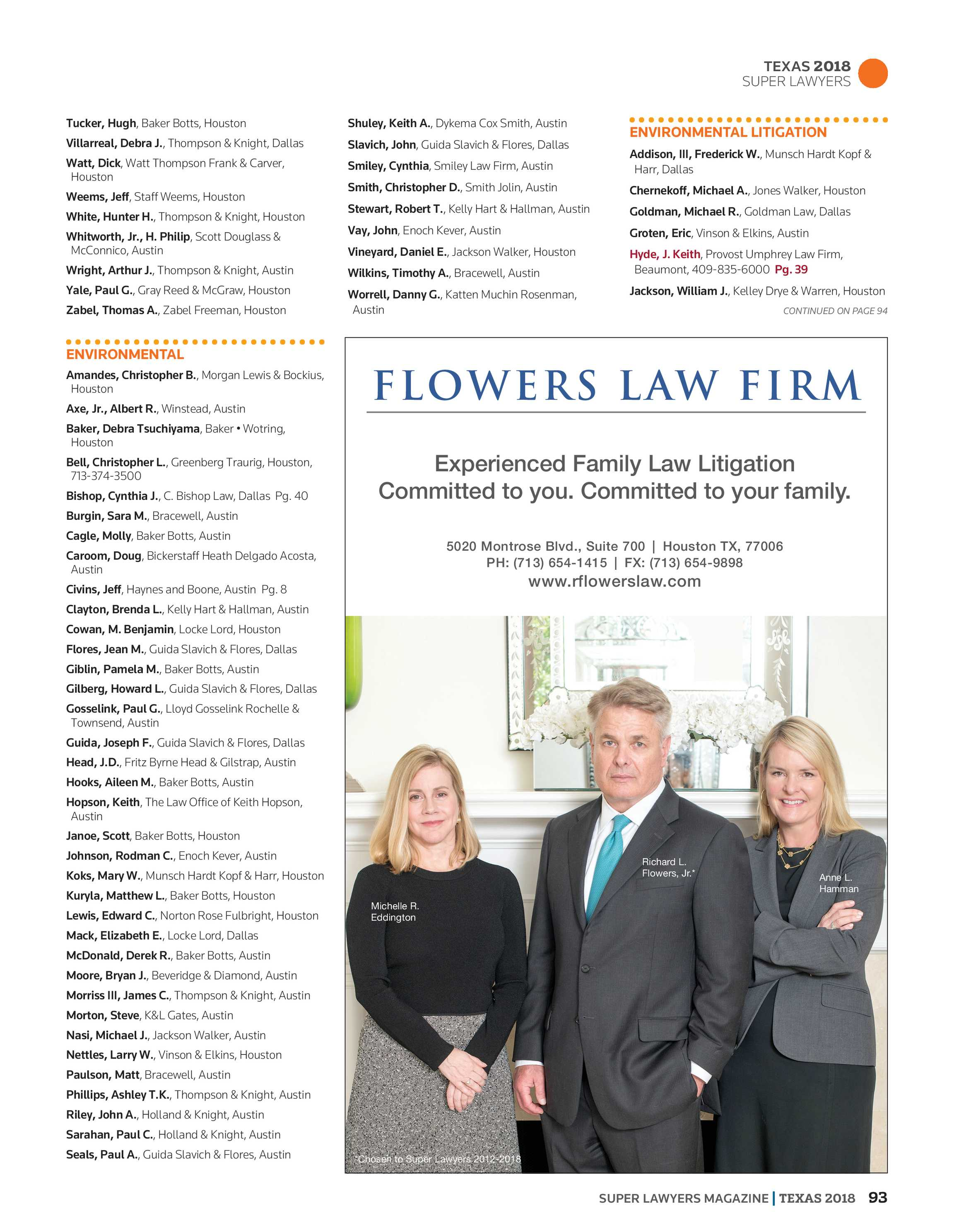 Super Lawyers - Texas 2018 - page 94