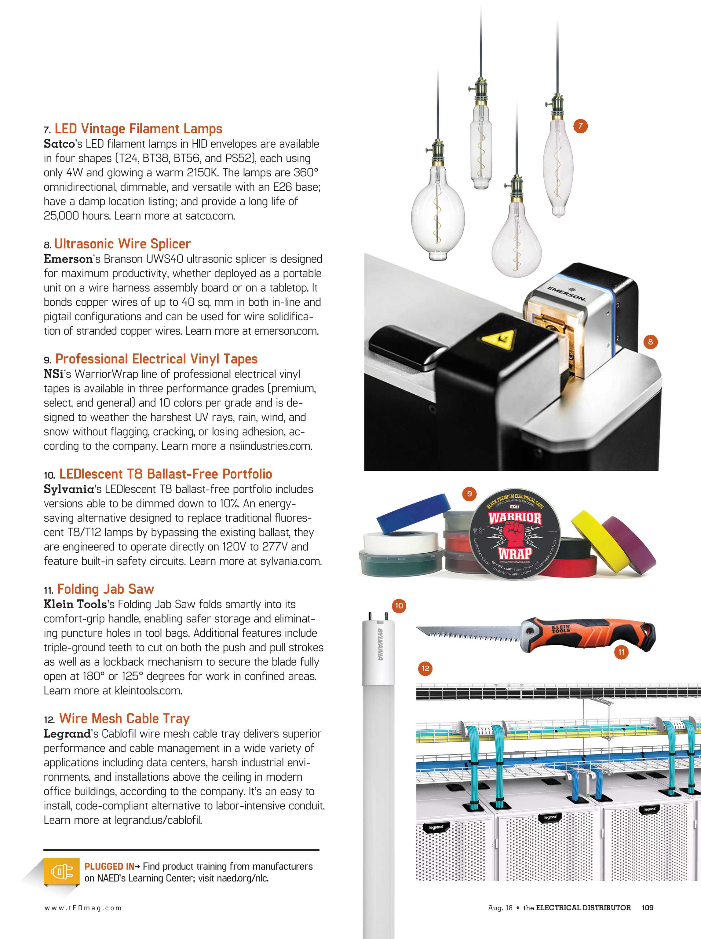 Ted Magazine August 2018 Page 108 Wiring Harness Conduit 109