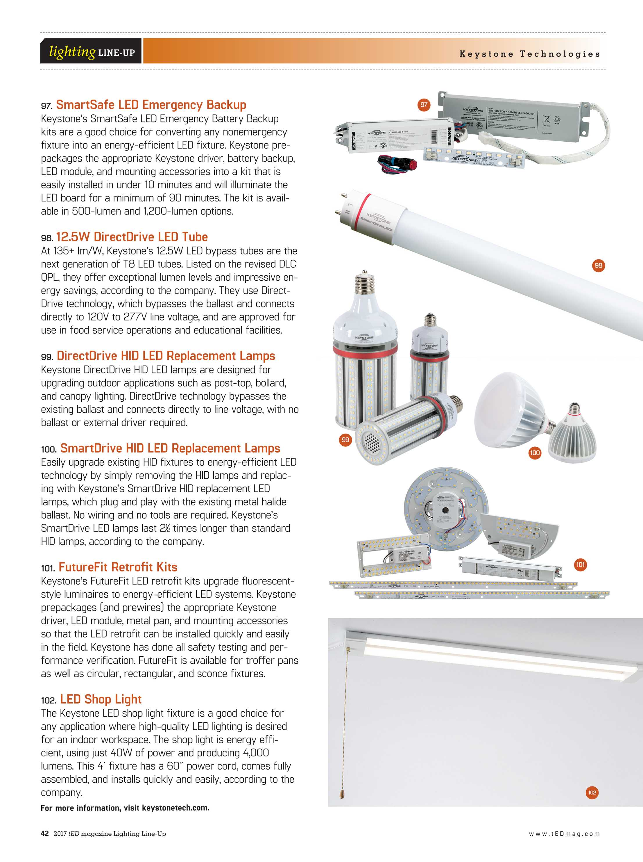Ted Magazine Lighting Line Up 2017 Page 42