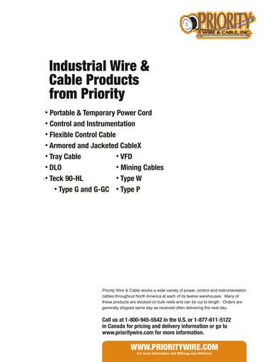 Priority Wire Canada - WIRE Center •