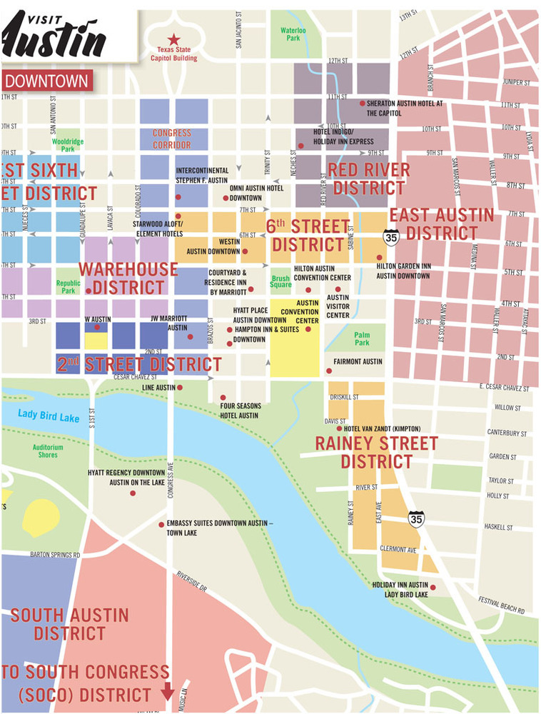 Texas Lone Star Septoct 2018 Downtown Austin Map
