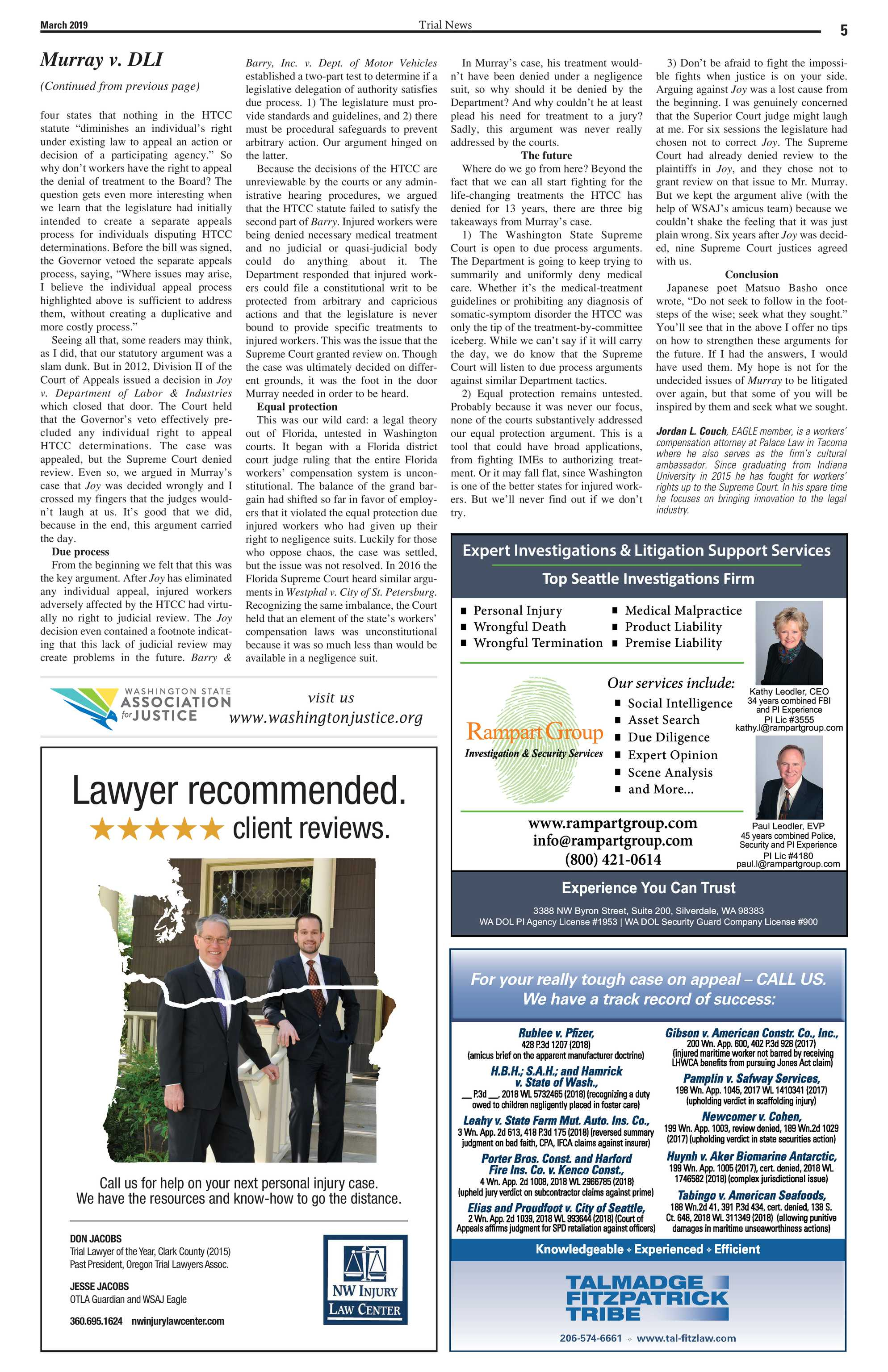 Trial News - March 2019 - page 5