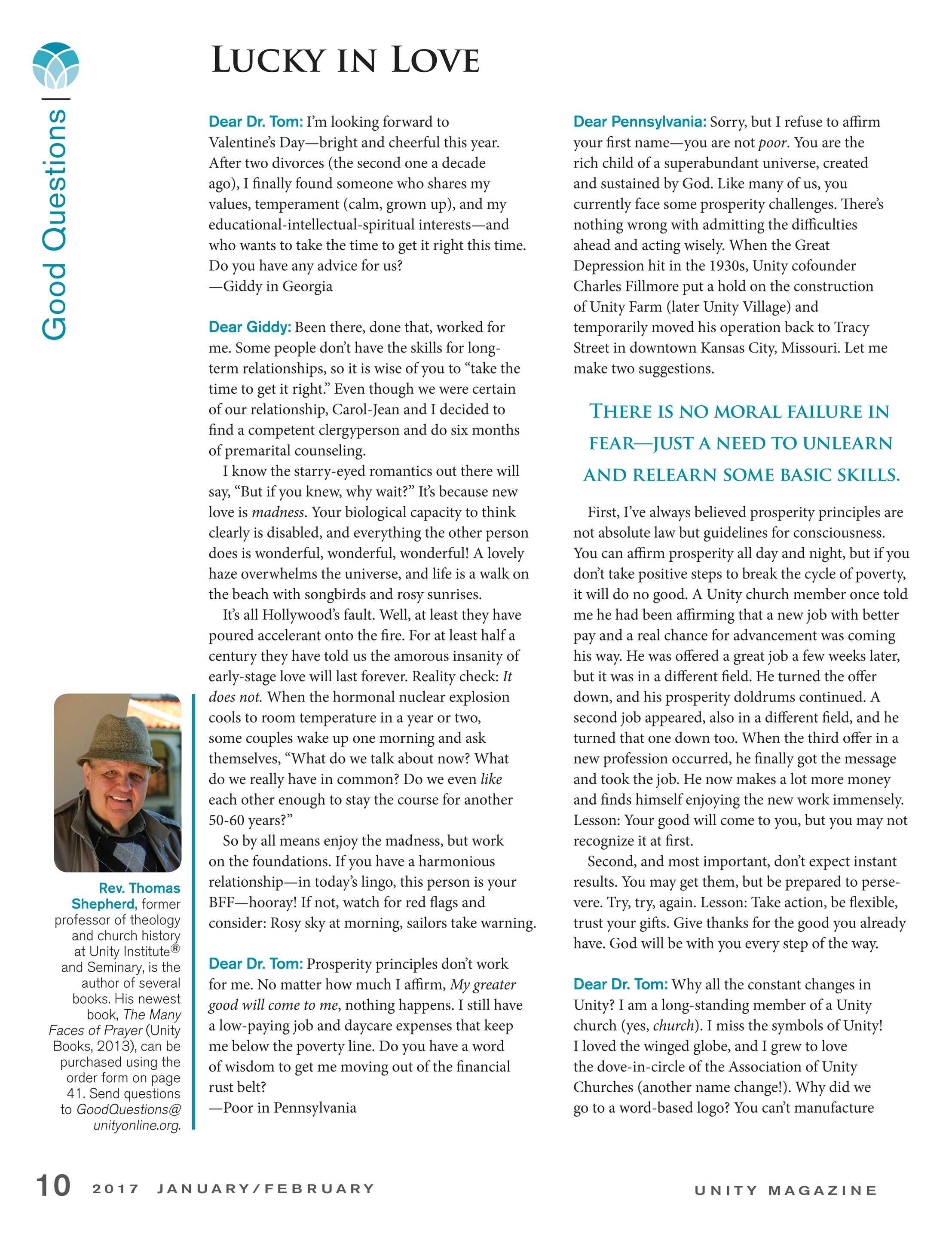 Unity Magazine - January/February 2017 - page 10