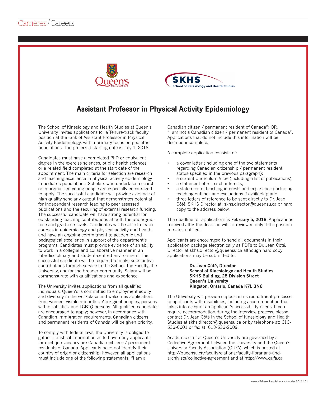 University Affairs - January 2018 - page 52