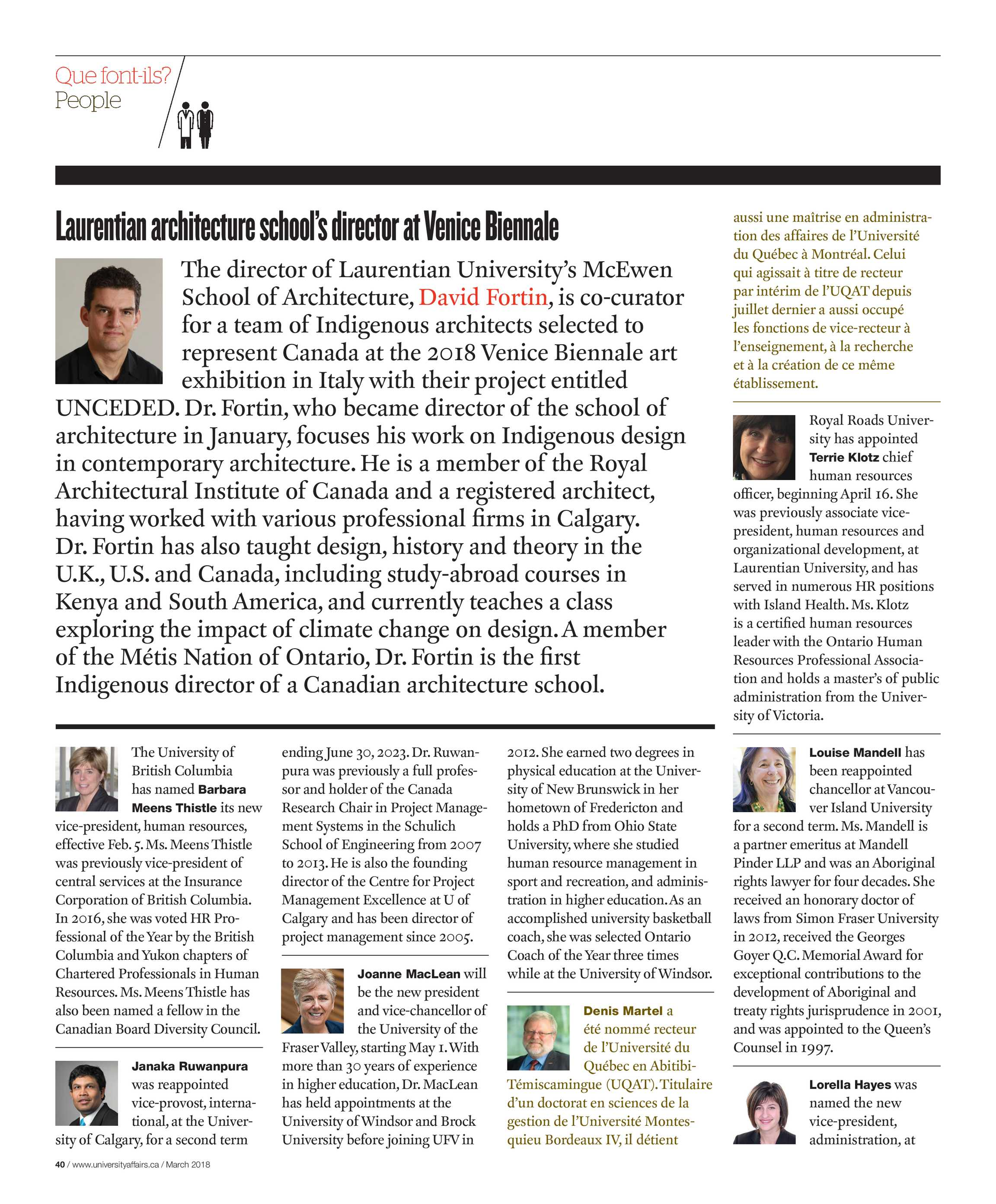 University Affairs March 2018 Page 39
