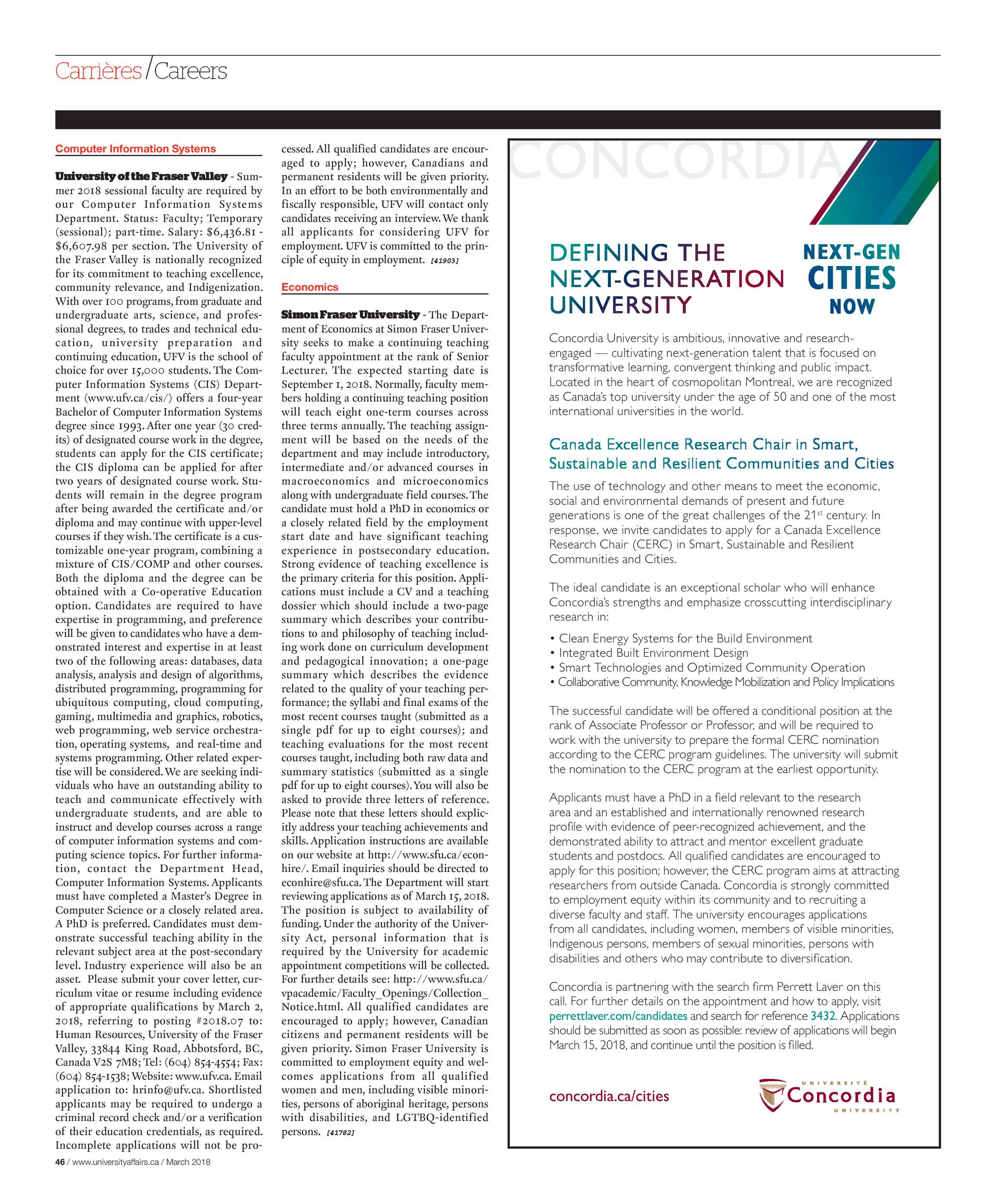 University Affairs - March 2018 - page 46