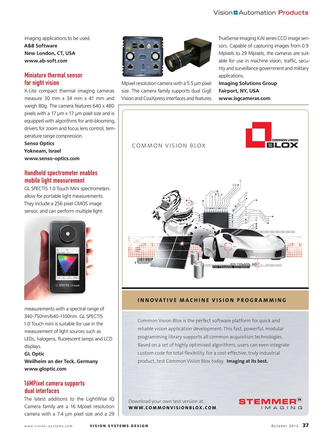 Vision Systems - October 2013 - page 38