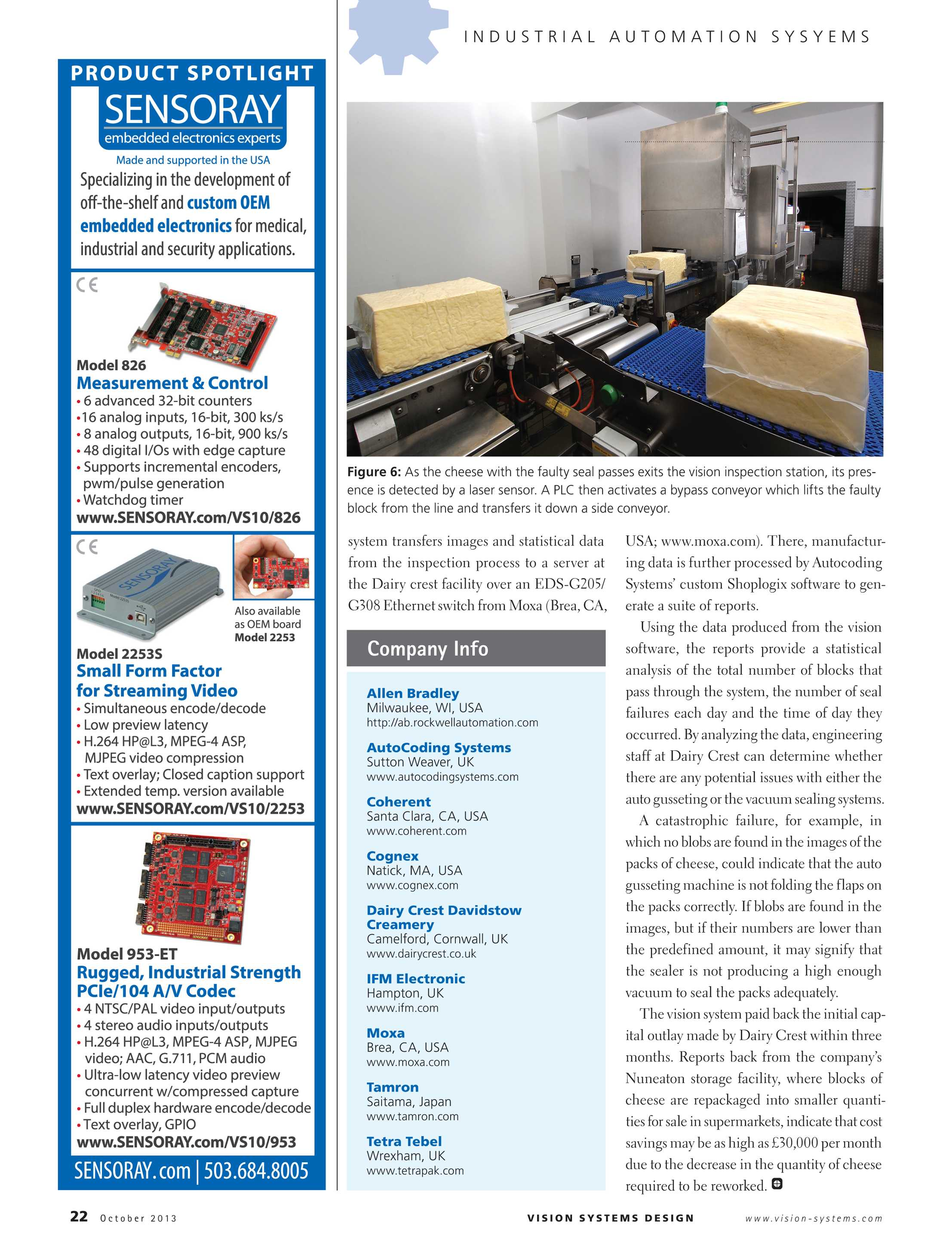 Vision Systems - October 2013 - page 22