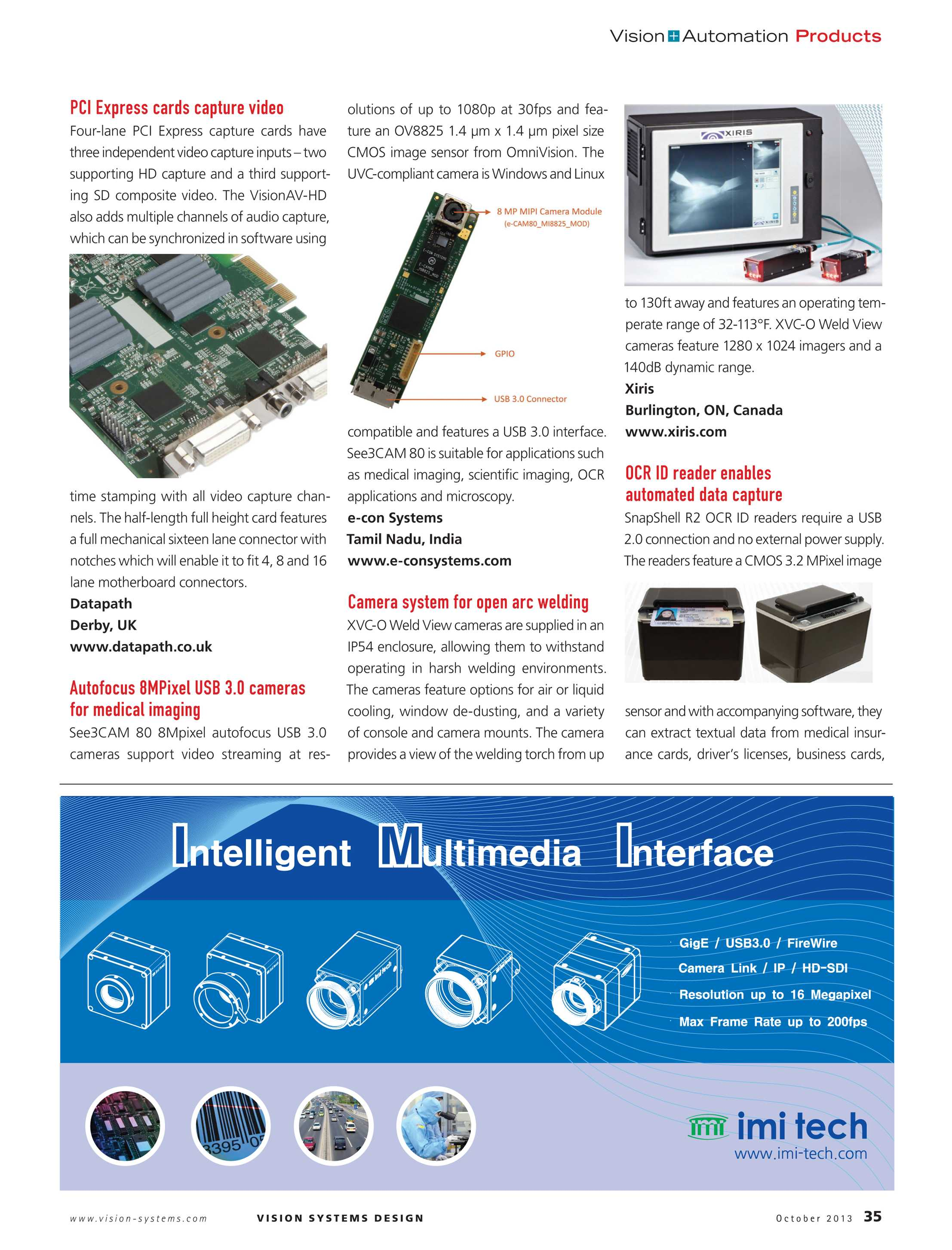 Vision Systems - October 2013 - page 35