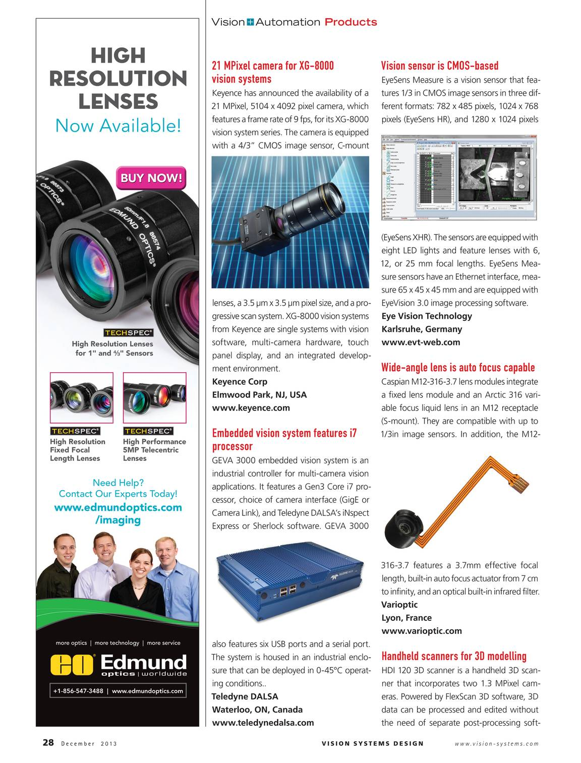 Vision Systems - December 2013 - page 27