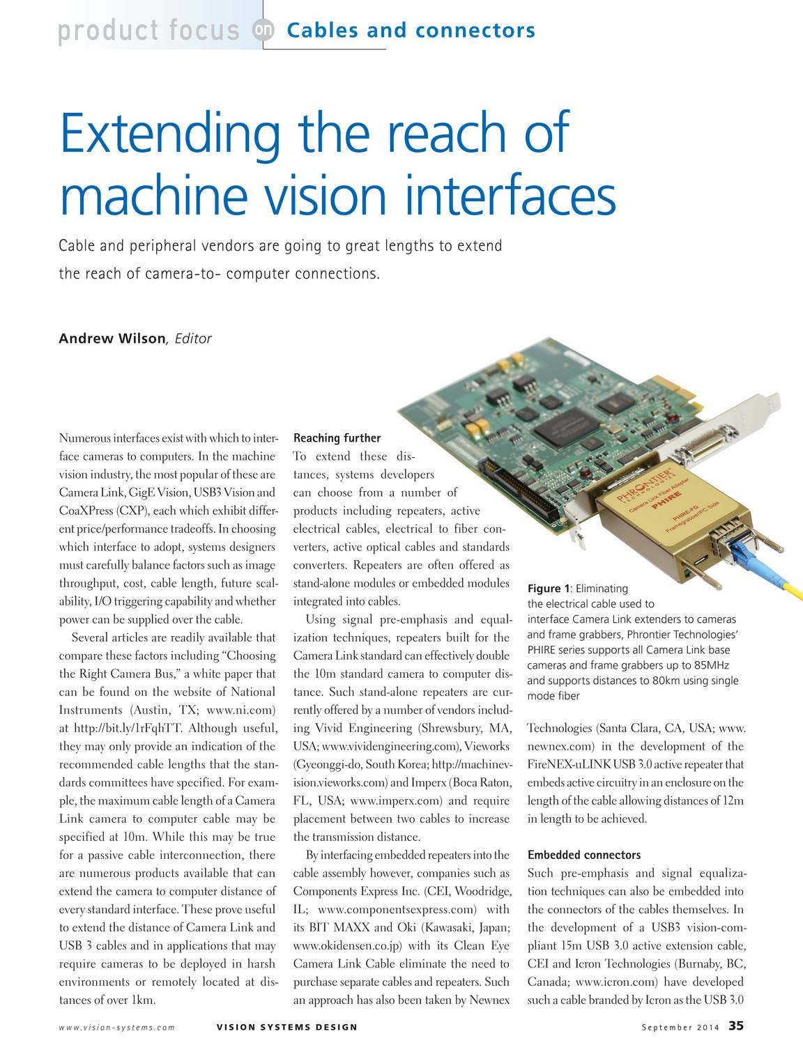 Vision Systems September 2014 page 36