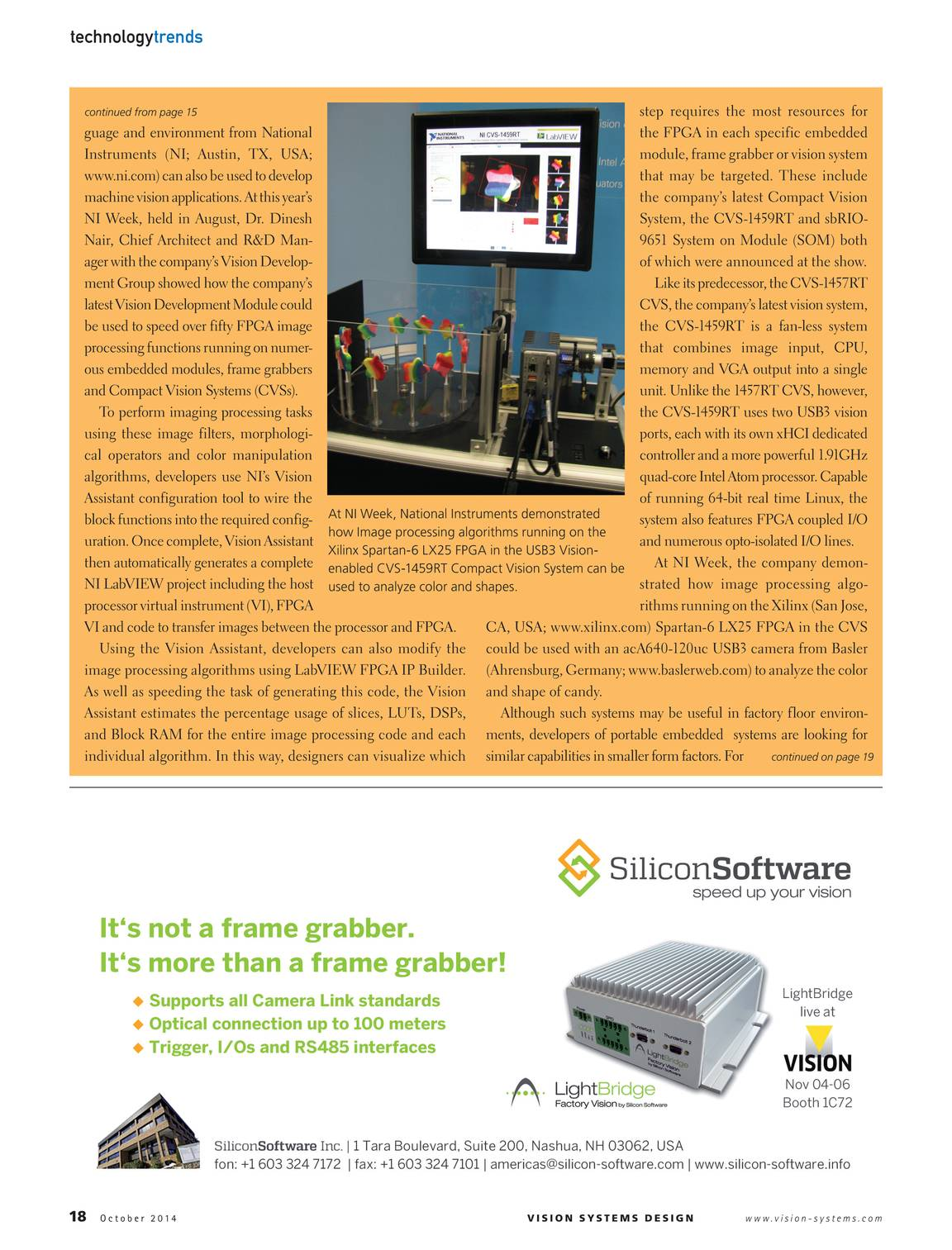 Vision Systems - October 2014 - page 19