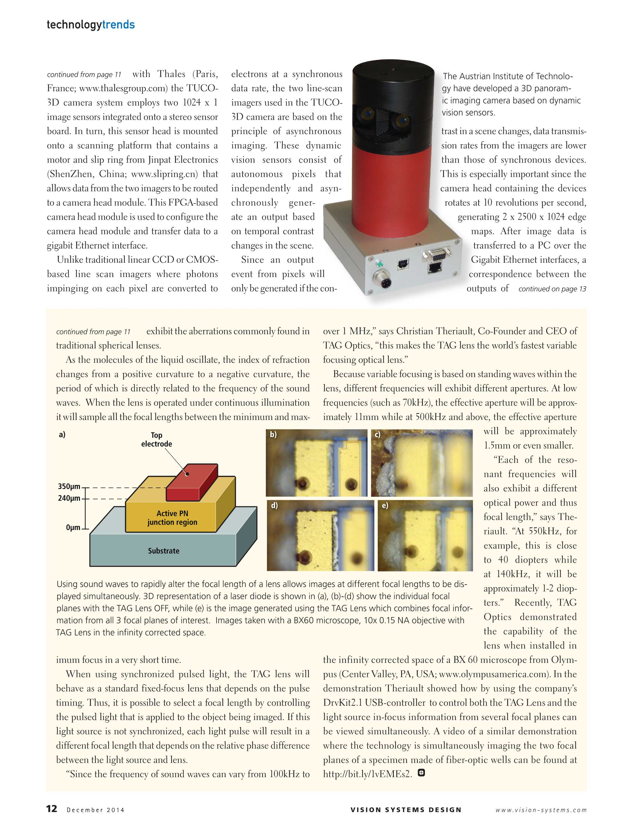 Vision Systems - December 2014 - page 12