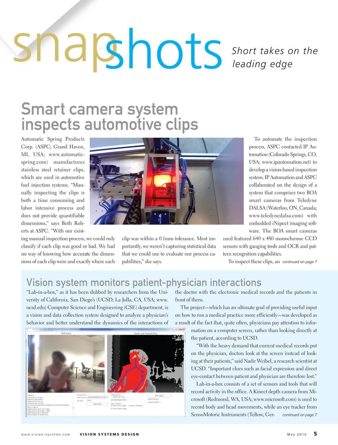 Vision Systems - May 2015 - page 4